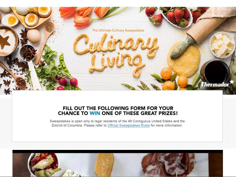 """The Thermador """"Culinary Living – Ultimate Oven Creations"""" Sweepstakes"""