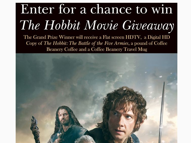 "The Coffee Beanery's ""The Hobbit Movie Giveaway"" Facebook Sweepstakes"