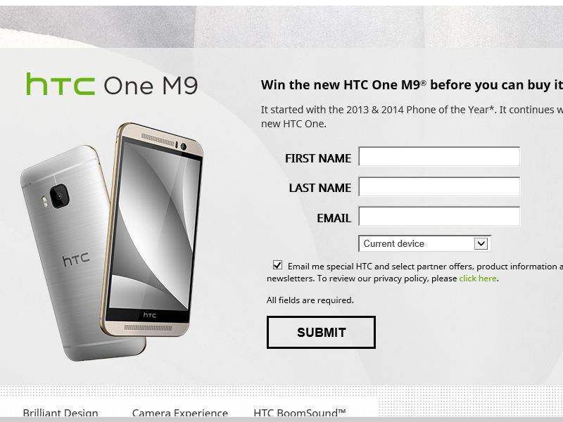 HTC One (M9) Sweepstakes