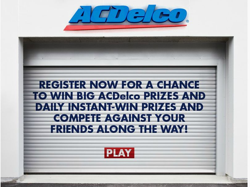 The 2015 ACDELCO Garage Sweepstakes
