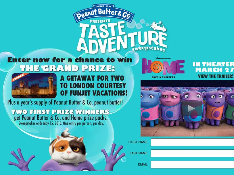 The Peanut Butter Co. Taste Adventure Sweepstakes