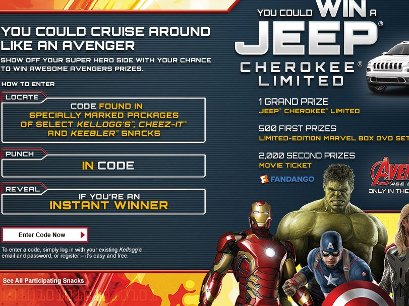 The Kellogg's Snacks – AVENGERS: AGE OF ULTRON Instant Win Game