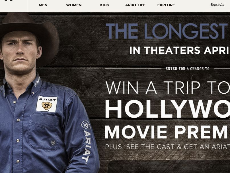"The Ariat ""The Longest Ride"" Sweepstakes"
