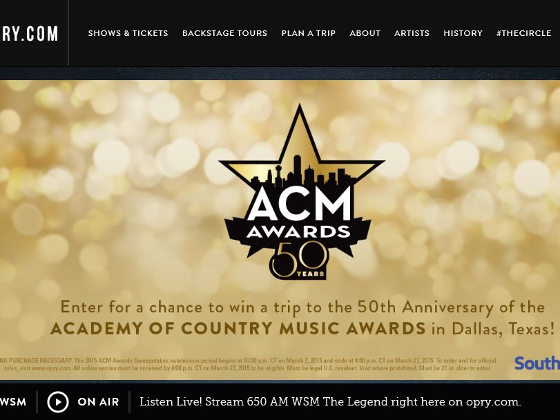 The 2015 ACM Awards Sweepstakes
