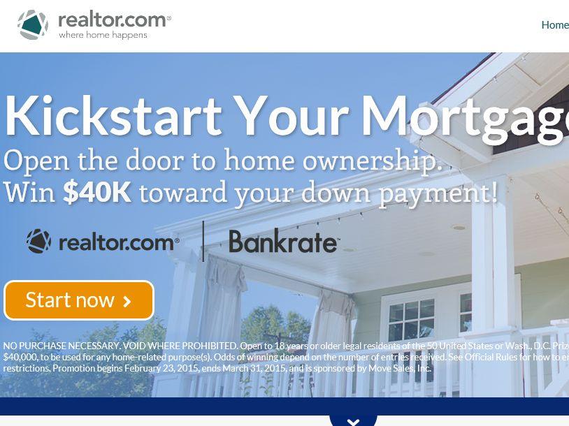 The realtor.com Kick‐Start Your Mortgage Sweepstakes