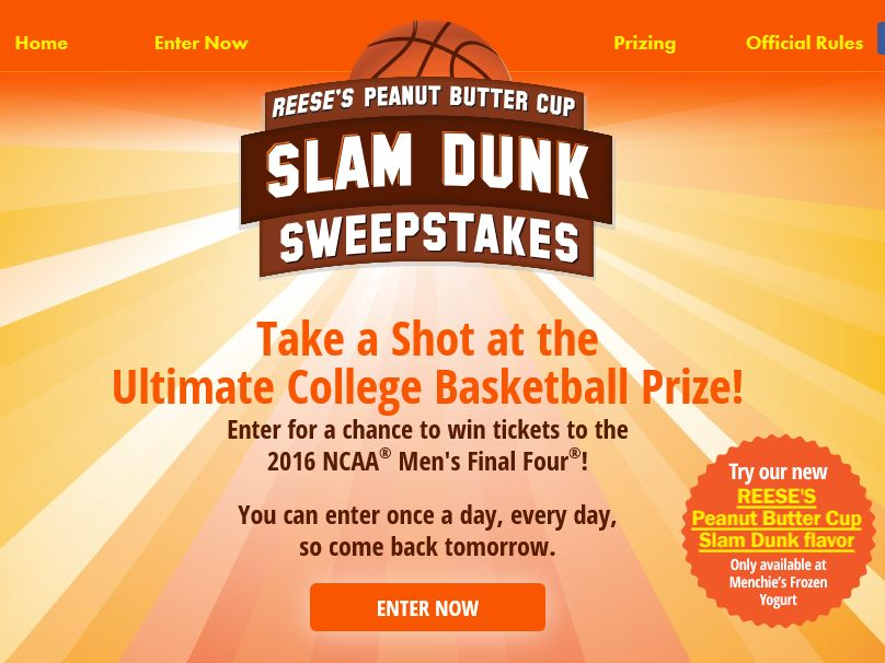 REESE'S Peanut Butter Cup Slam Dunk Sweepstakes