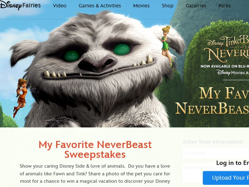 Disney's My Favorite NeverBeast Sweepstakes