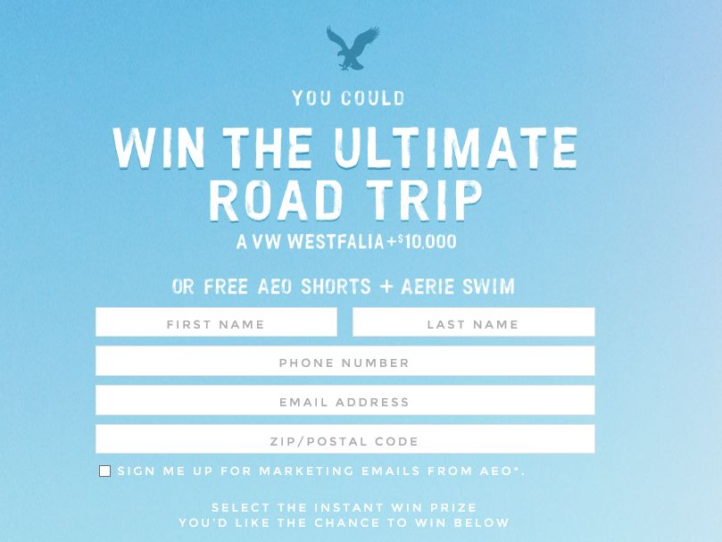 2015 AEO & Aerie Spring Try-On Even Sweepstakes