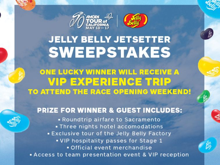 The Amgen Tour of California Jelly Belly Jetsetter Sweepstakes