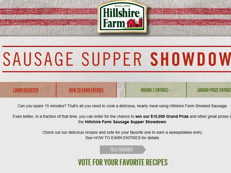 Hillshire Sausage Supper Showdown Challenge Sweepstakes
