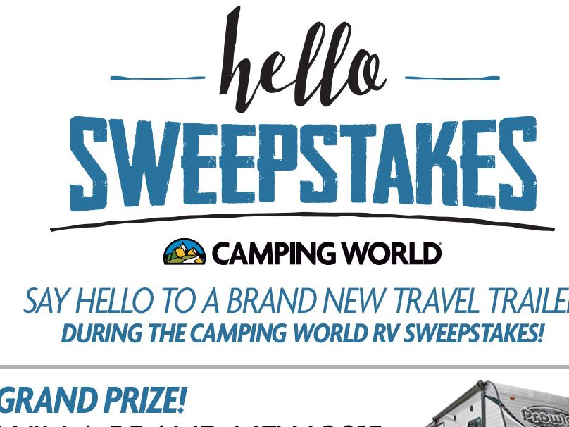 The 2015 Hello Camping World RV Sweepstakes