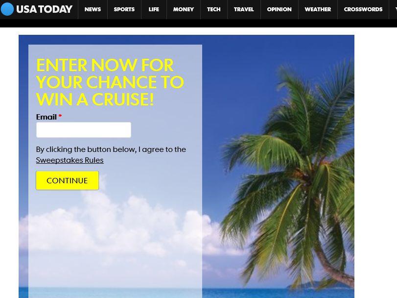 USA TODAY Norwegian Cruise Trip Sweepstakes