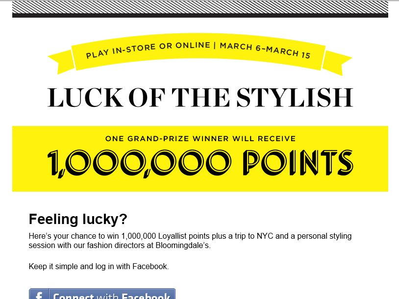 Bloomingdale's Luck of the Stylish Sweepstakes