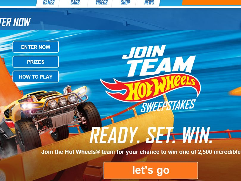 The Hot Wheels Join Team Hot Wheels Sweepstakes