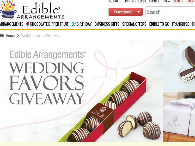 Edible Arrangements Wedding Favors Giveaway