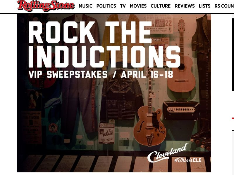 "Rolling Stone ""Rock the Inductions"" Sweepstakes"