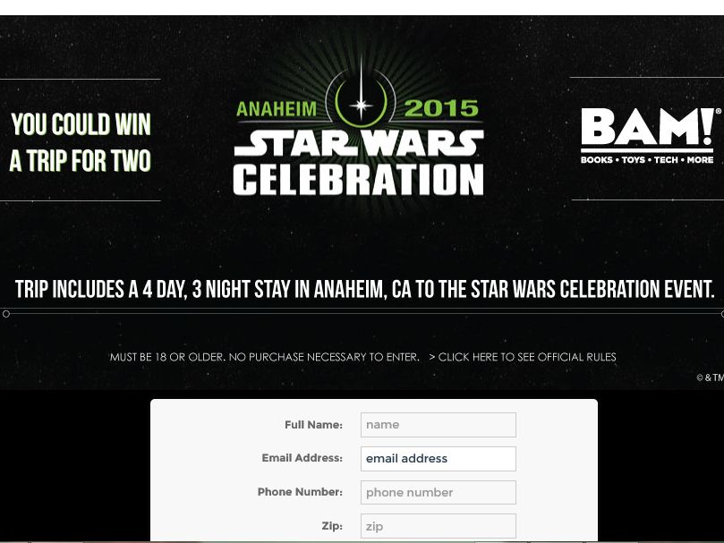 Books-­A-­Million's 'Star Wars Celebration' Sweepstakes