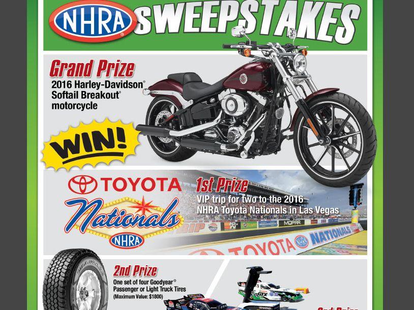 The 2015 NHRA Sweepstakes