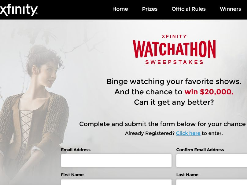 The XFINITY Watchathon Sweepstakes