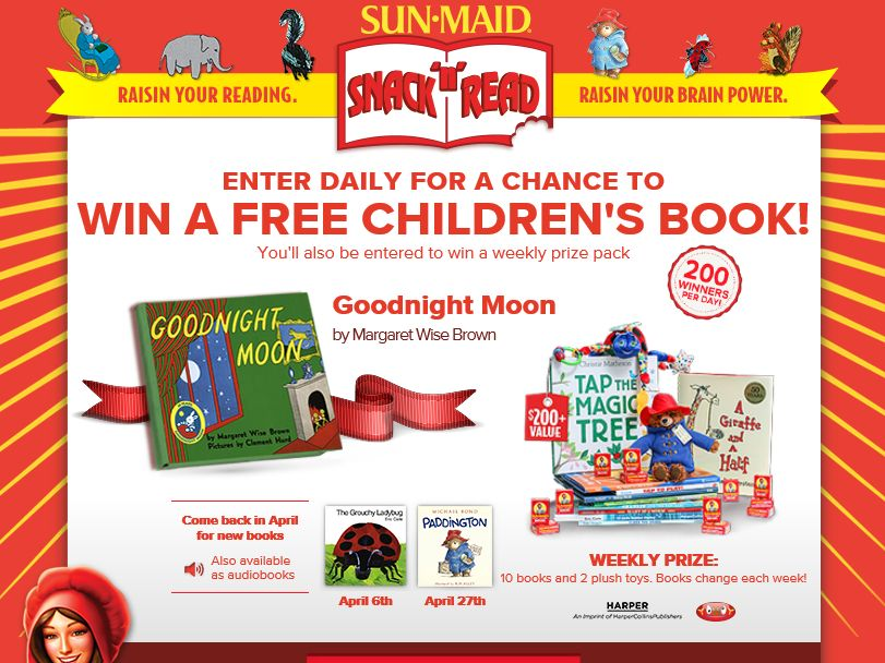 2015 Sun-Maid Snack 'n' Read Promotion