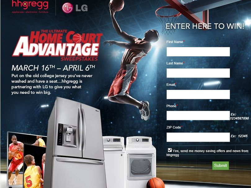 The hhgregg The Ultimate Home Court Advantage Sweepstakes