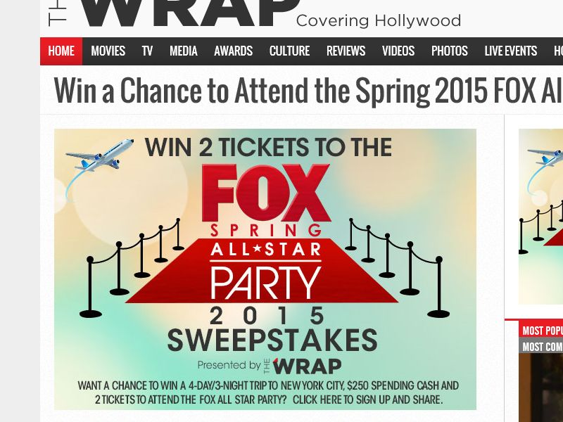 2015 FOX Spring All-Star Sweepstakes
