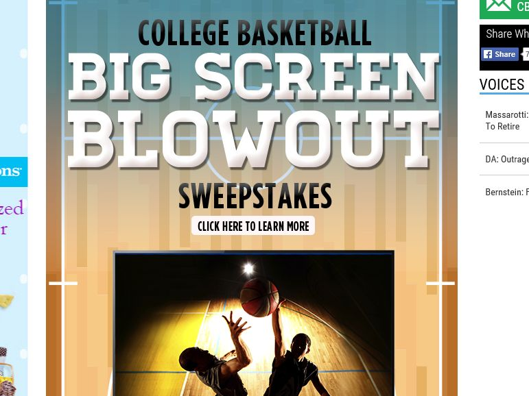 The College Basketball Big Screen Blowout Sweepstakes