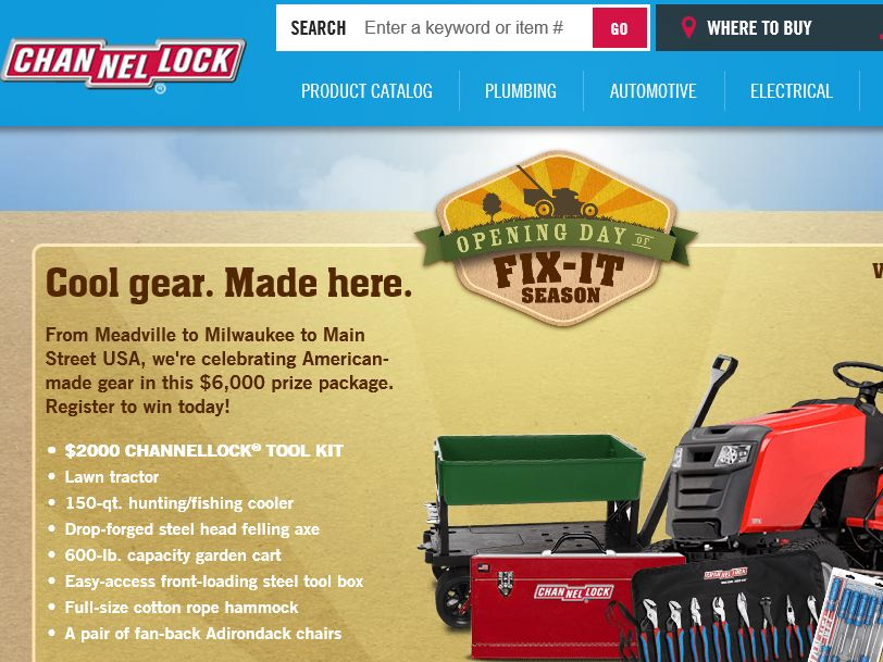"""The Channel Lock """"Opening Day of Fix-It Season"""" Sweepstakes"""