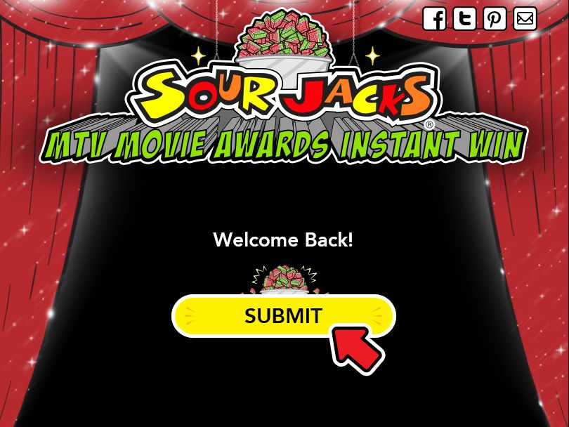 Sour Jacks MTV Movie Awards Ballot and Instant Win Game