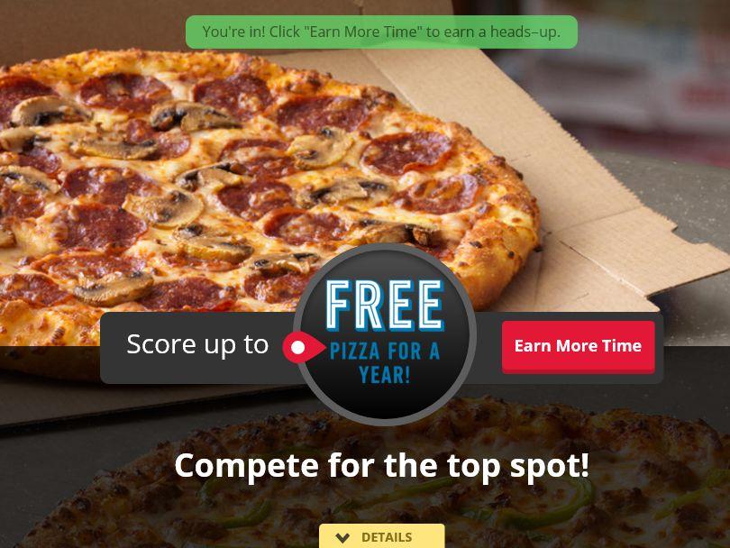 Domino's Pizza Score Big Sweepstakes