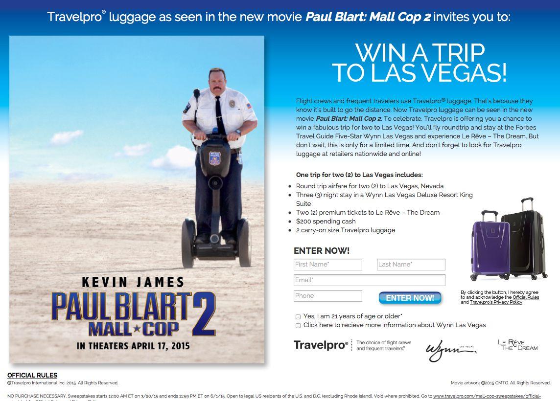 Travelpro Trip to Las Vegas Sweepstakes
