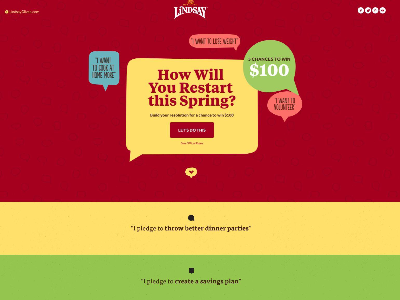 Lindsay Olives Spring Restarts Sweepstakes
