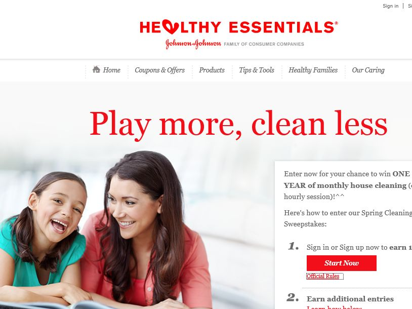 HEALTHY ESSENTIALS Spring Cleaning Promotion