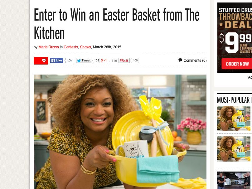 The Food Network's Kitchen's Easter Basket Giveaway
