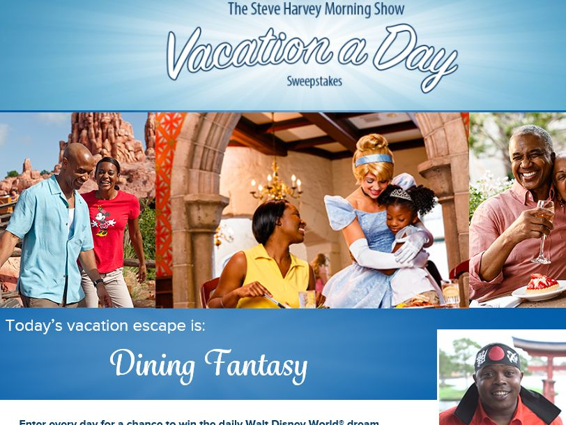 The Steve Harvey Morning Show's Vacation a Day Sweepstakes