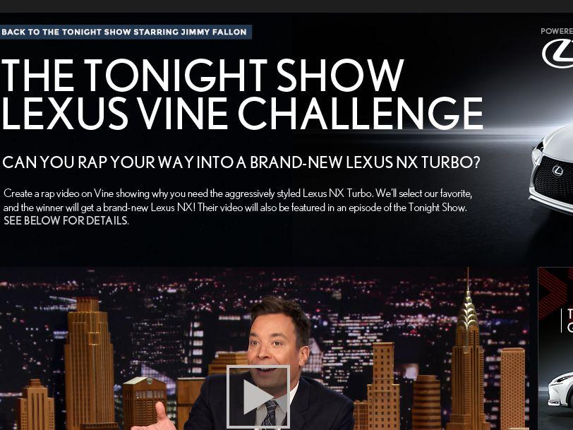 The Tonight Show Lexus Vine Challenge