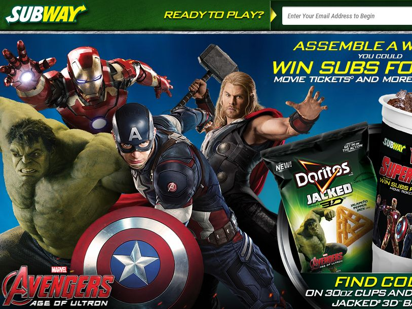 SUBWAY Where Super Heroes Eat Instant Win Game – Code Required
