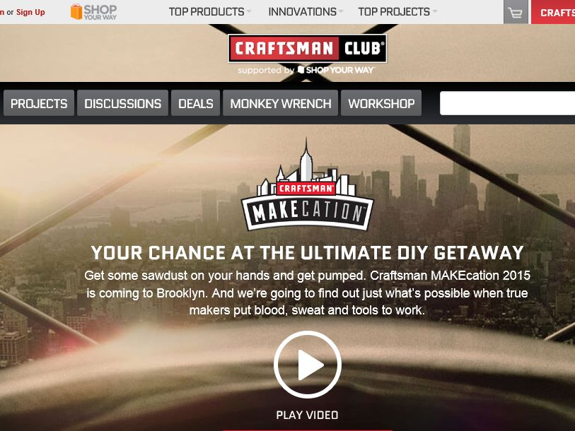 The 2015 Craftsman MAKEcation Sweepstakes