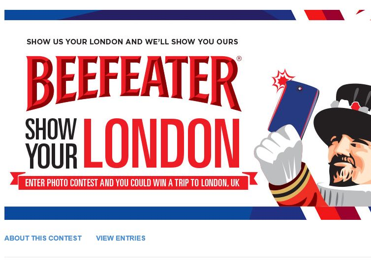 Beefeater Show Us Your London Contest