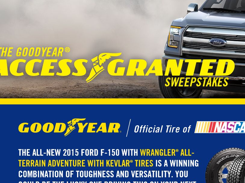 The Goodyear Access Granted Sweepstakes