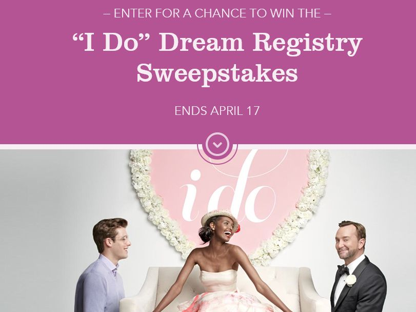 Macy's I DO Dream Registry Sweepstakes