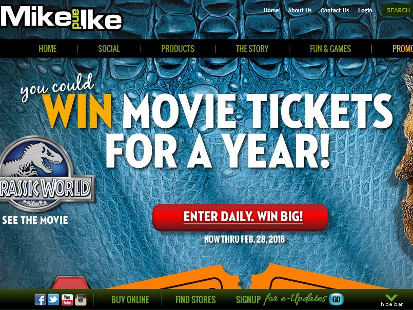 """Just Born's """"MIKE AND IKE Win Movies for a Year"""" Sweepstakes"""
