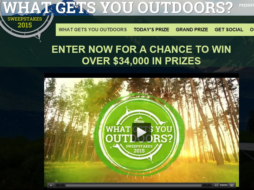 """The Outdoor Channel's """"What Gets You Outdoors"""" Sweepstakes"""