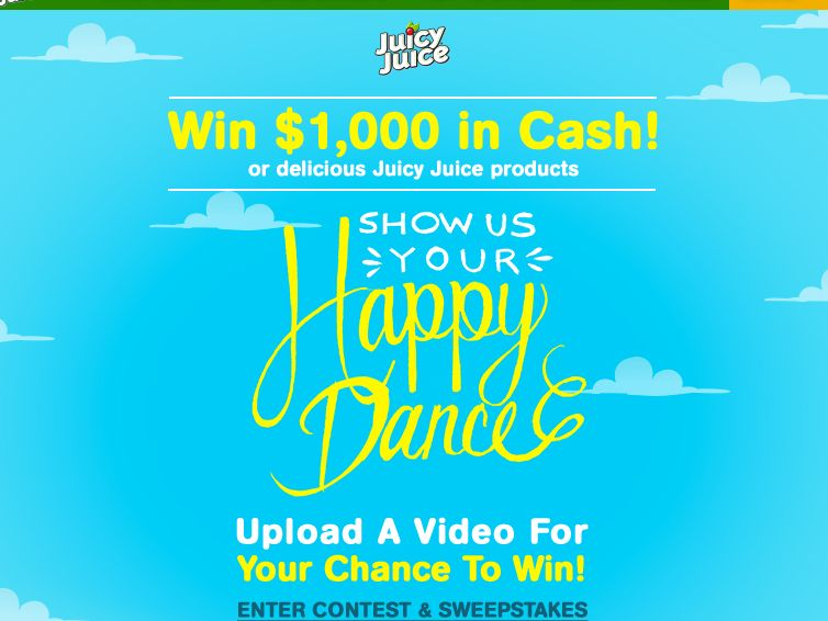 Dance happy be happy sweepstakes
