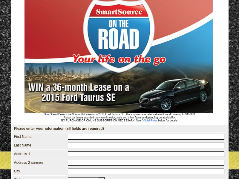 2015 Smart Source On the Road Sweepstakes