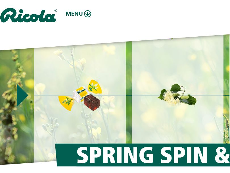 The Ricola Spring Spin & Win Promotion