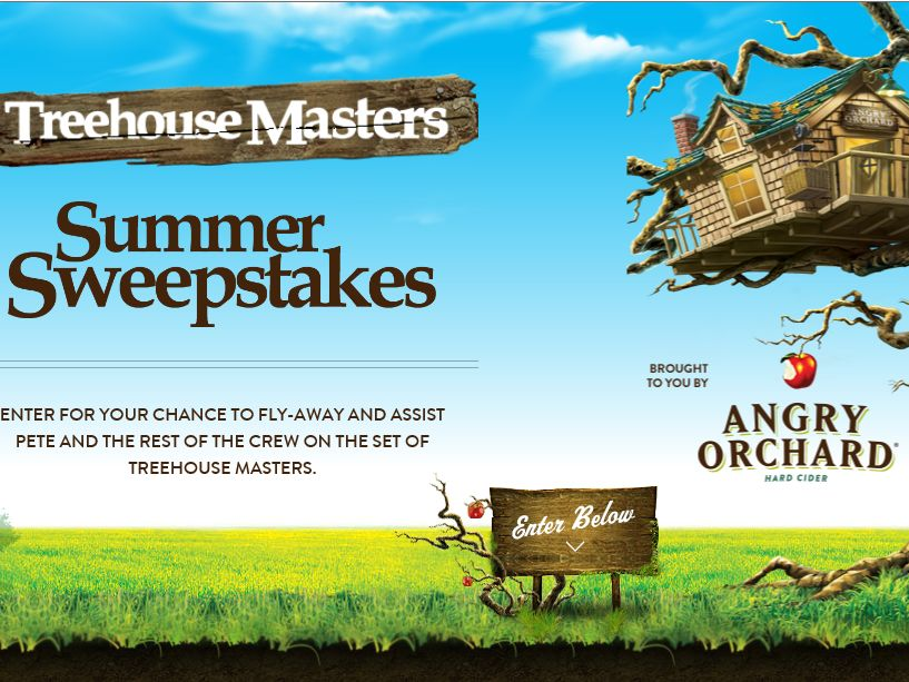 Angry Orchard Treehouse Masters Summer Sweepstakes