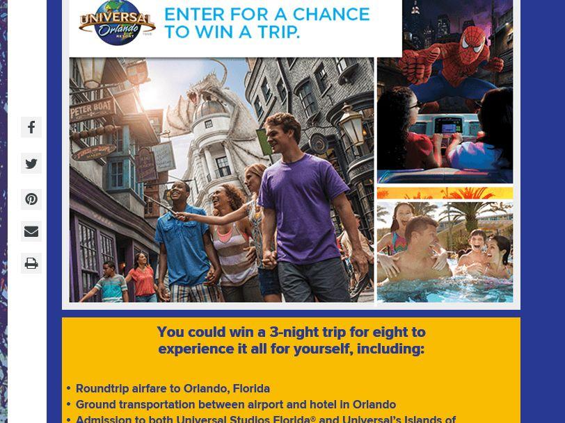 Hallmark Channel Universal Orlando Resort Sweepstakes