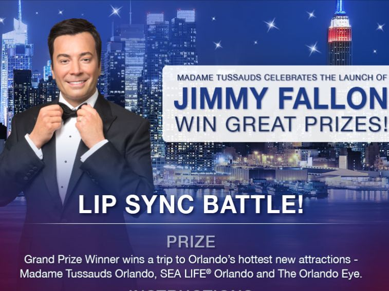 The Madame Tussauds Jimmy Fallon '#FallonLipSyncBattle' Sweepstakes