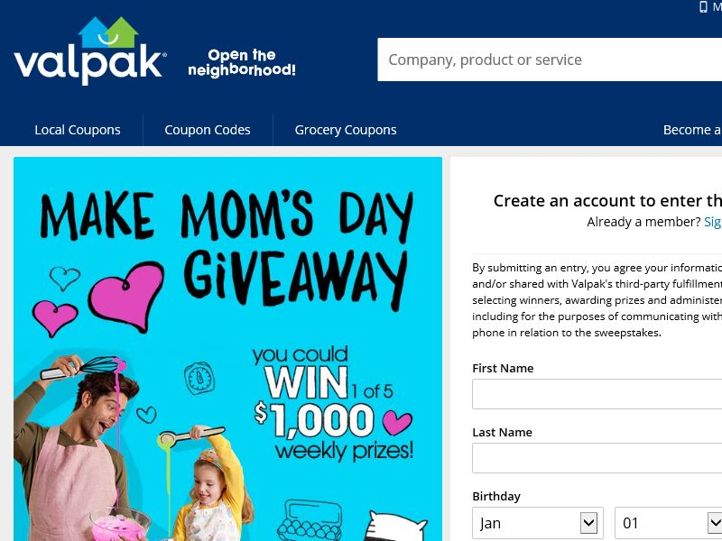 The Valpak Make Mom's Day Giveaway
